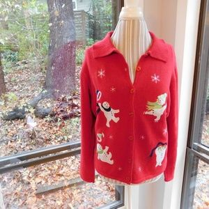 Sweaters - Playful snowman Christmas sweater, xl